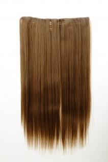 Haarteil Haarverlängerung breit 5 Clips dicht glatt Honigblond 60 cm L30172-15