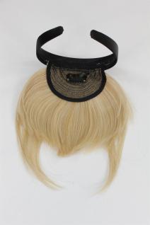 Clip-in Pony, Haarreif mit längerem Seitenhaar natürl. Wirkung Blond HA071T-611