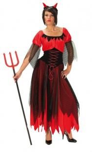 Rubies: Teufelin Kostüm Modell 1/3422 Teufel Satan Gothic Mittelalter Vampir
