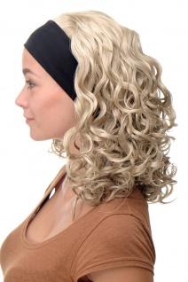 Damenperücke Perücke Stirnband voluminös Locken Blond Hellblond BRO-704-22