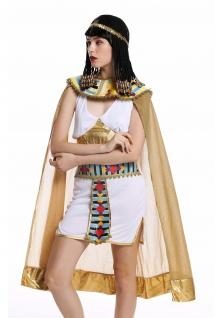 Kostüm Damen Frauen Karneval Ägypterin Kleopatra Cleopatra Pharaonin weiß M - Vorschau 5