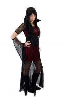 Aufwändig & Sexy Kostüm Kleid Böse Hexe Vampirin Gothic Vamp Witch Märchen L007 - Vorschau 2