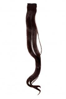 1 CLIP Strähne wellig Dunkel-Braun-Mahagoni YZF-P1C18-2T33 45cm Haarverlängerung