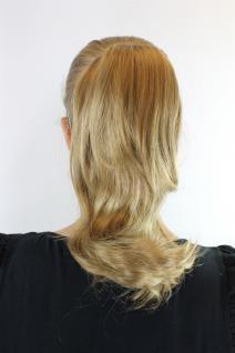 Extension, Blond, Klammer, glatt, geschwungene Spitzen, ca. 25 cm, CT-1157B-22T