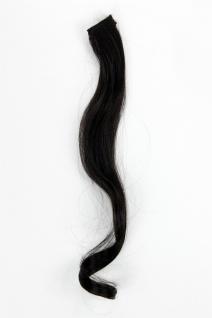 1 CLIP Extension Strähne wellig Schwarz YZF-P1C18-2 45cm Haarverlängerung