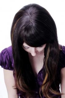 Damen Perücke braun leichte helle Strähnen glatt langes Haar 9213-2T33-27 NEU - Vorschau 5