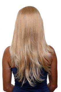 Clip-in Haarteil 7 Klammern 3/4 Perücke Halbperücke Blond Mix 60cm H9505-27T88