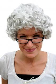 Perücke GRAU Locken Oma Omi Granny Alte Reife Dame Frau Großmutter wig PW0035