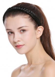 Haarband Haarreif geflochten Tracht traditionell tiefschwarz braid CXT-001-001