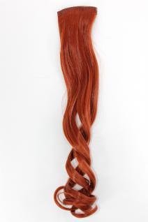 2 Clips Extension Strähne wellig Tizian-Rot YZF-P2C18-350 45cm Haarverlängerung