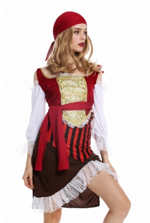Kostüm Damen Frauen Karneval Piratin Piratenbraut Seeräuberin Gr. M W-0081