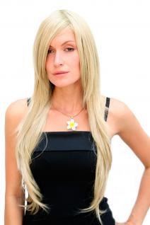 Sexy Perücke blond/hellblonde Haare sehr lange glatte Frisur Wig 75 cm 3110-234