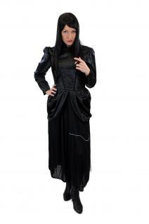 Kostüm Damenkostüm Kleid 80er New Wave Gothic Lolita Barock Hexe Vampirin L002