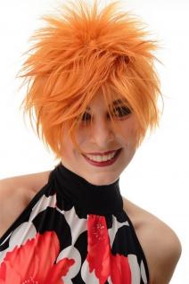 Damenperücke Perücke kurz toupiert wilde Strähnen 80er Wave Punk Orange BLUE144 - Vorschau 1