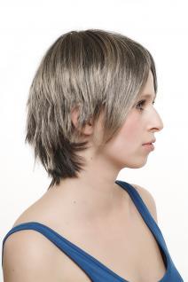 Sexy modische Damenperücke Perücke wild burschikos Strähnen schwarz blond 1BT24 - Vorschau 5