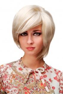 Perücke Blond Mix Scheitel asymmetrisch kurz voluminös niedlich TYW60231-22-60