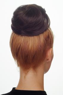 Haarteil Dutt Haarknoten Bun 60er Jahre Vintage Look sehr groß Braun NHA-004C-8