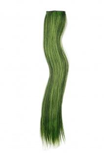 2 CLIP Extension Strähne Haarverlängerung Grün glatt 45cm YZF-P2S18-1/TF2106