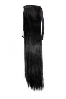 Haarteil ZOPF Dunkelbraun glatt 45cm YZF-TS18-3 Band Klammer Haarverlängerung