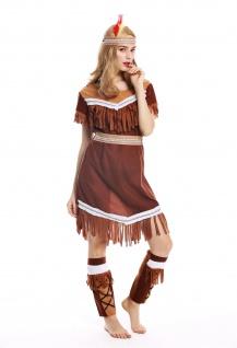 Kostüm Damen Frauen Damenkostüm Karneval lang Indianerin Gr. M W-0211 - Vorschau 2