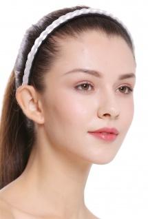 Haarband Haarreif geflochten Tracht traditionell weiß braid CXT-004-138