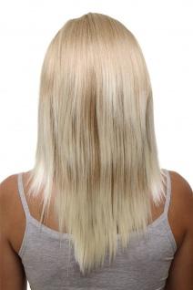 Clip-in Haarteil mit 5 Klammern 3/4 Perücke Blond-Mix ca. 50cm HD1401-15BT613
