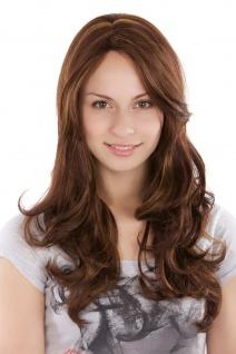 Damenperücke Perücke natürlich brünett blond gesträhnt gewellt 3243-33H27 55cm