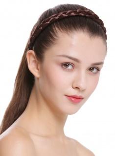 Haarband Haarreif geflochten Tracht traditionell mittelbraun braid CXT-006008