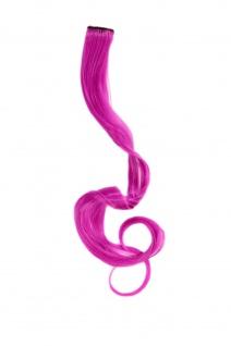 1 Clip Extension Strähne Haarverlängerung wellig Dunkelpink 63cm YZF-P1C25-T1855