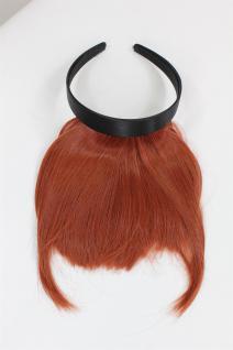 Clip-in Pony, Haarreif mit längerem Seitenhaar, natürl. Wirkung, Rot HA071T-350