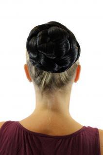 Haarteil aufwendig geflochten Zopf Dutt Haarknoten Tracht Schwarz TC-2072-2