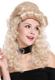 Perücke Damen Halloween Barock Viktorianisch lang lockig hochgesteckt blond