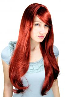 Perücke rot lang Scheitel sexy langhaarig glatt fallend Wig 3111-35 ca 70cm wig