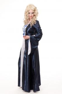 Kostüm Damenkostüm Blaues Kleid Haube Mittelalter Elfe Fee Magierin Cosplay L080 - Vorschau 5