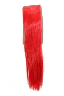Haarteil ZOPF Rot glatt 45cm YZF-TS18-113 Band Haar Klammer Haarverlängerung