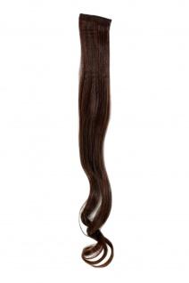 2 Clips Strähne wellig Dunkel-Rot-Braun YZF-P2C25-2T30 65cm Haarverlängerung