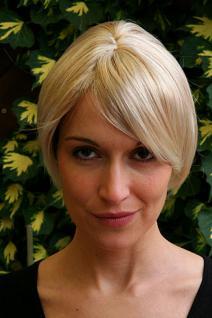 Perücke kurz blond Scheitel 6082-27T613