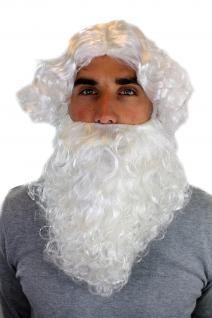 Karnveval Fasching Weihnachten Weihnachtsmann Perücke & Bart Santa Claus 6095A+B