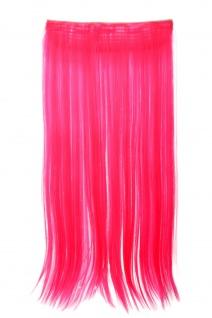 Haarteil Extension breit Haarverlängerung 5 Clips glatt Neonpink YZF-3177-TF2315