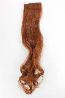 2 Clips Extension Strähne wellig Rot-Braun YZF-P2C18-30 45cm Haarverlängerung