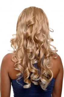 Clip-in Haarteil 7 Klammern 3/4 Perücke Halbperücke Blond Mix Locken H9503-27T88