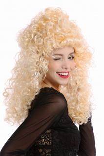 Perücke Damen Halloween Karneval blond Barock Mähne Löwenmähne voluminös lockig