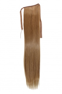 Haarteil ZOPF Blond glatt 45cm YZF-TS18-22 Band Haar Klammer Haarverlängerung