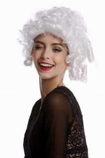 Perücke Damenperücke Karneval Barock Rokoko kurz Korkenzieherlocken weiß lockig