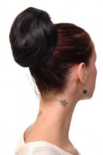 Haarteil Dutt Haarknoten 60er Jahre Vintage Look Schwarz sehr groß NHA-004C-2