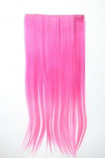 Extension Haarverlängerung Clip-In 5 Clip glatt zweifarbig Ombre Rosa 60cm lang