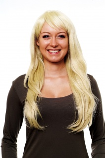 WIG ME UP Damenperücke Perücke Frauen glatt lang hellblond blond Pony 2218-88E