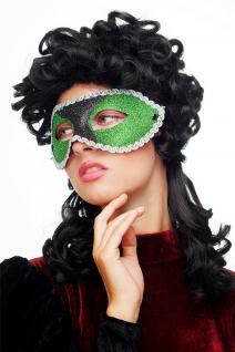 Karneval Venezianisch Halb-Maske Damenmaske grün reptil Society Maskenball 65-62