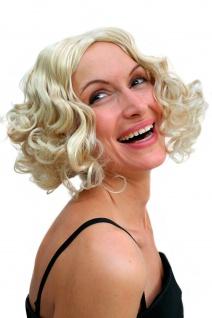 Perücke Damen Hollywood Diva kurz wellig Mittelscheitel blond 20er Swing Chicago