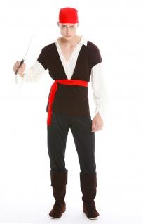 Kostüm Herren Karneval Fasching Pirat Freibeuter Seeräuber Gr. M/L M-0025